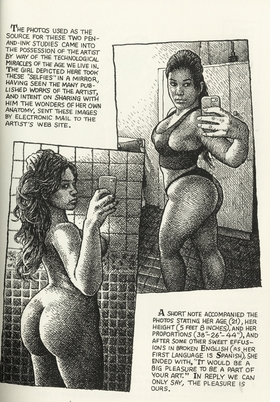art-beauty-magazine-drawings-by-r-crumb-11- nude selfie